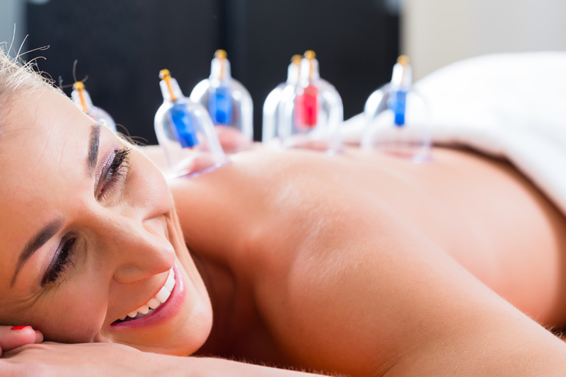 Cupping causes a stimulation to better circulate blood through the body.